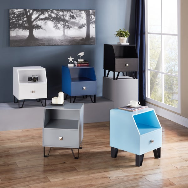 Furniture Of America Kara Contemporary 1 Drawer Side Table