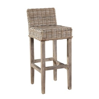 Charmant Auger Handwoven Rattan Bar Stool