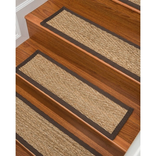 Shop Beach Seagrass Carpet Stair Treads 9 X 29 Espresso