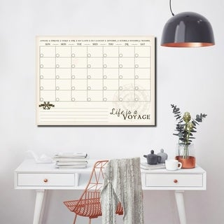 R2H Methods 'Life is a Voyage' Dry Erase Monthly Calendar on ArtPlexi