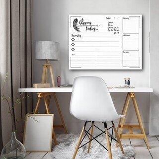 R2H Methods 'It Happens Today' Dry Erase Daily Planner on ArtPlexi (3 options available)