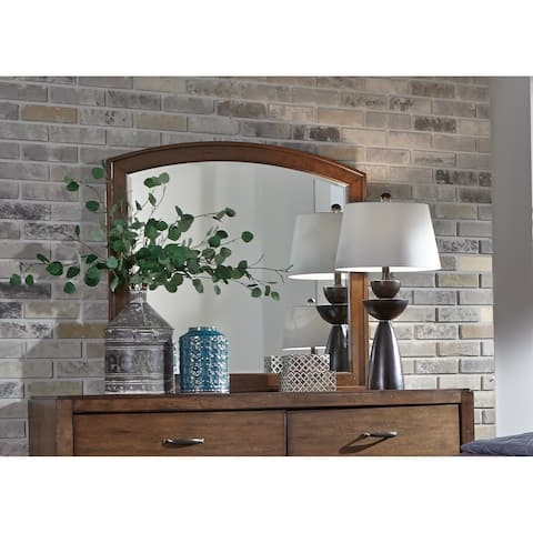 Copper Grove Champigny Pebble Brown Arch Mirror