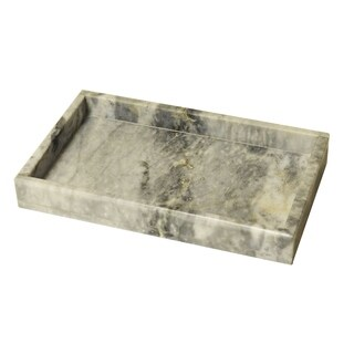 Polished Marble Tray, Cloud Gray, Shower and Bathroom Accessory