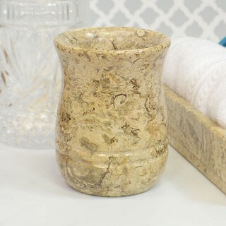 Polished Marble Tumbler, Fossil, Shower and Bathroom Accessory