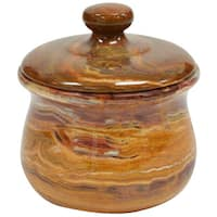 Polished Marble Jar, Amber, Shower and Bathroom Accessory
