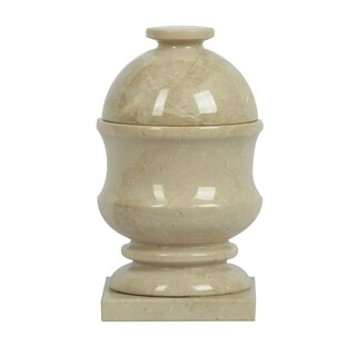 Polished Marble Jar, Beige, Shower and Bathroom Accessory