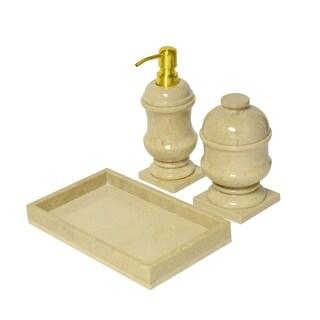 Marble Mini Bath Accessory Set, Beige