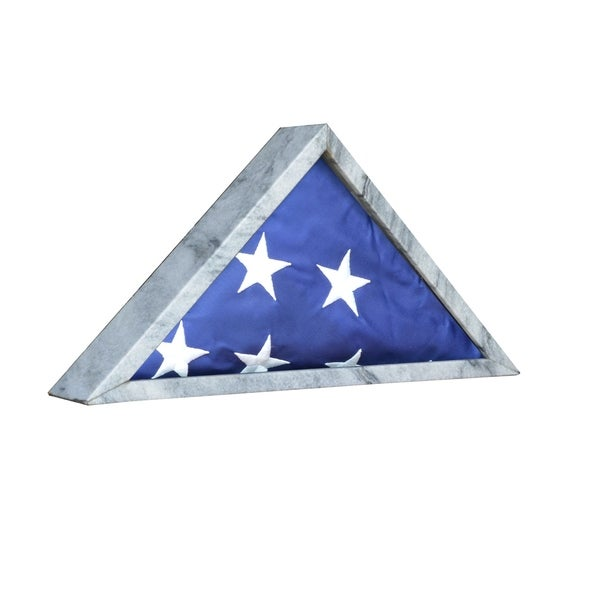 Shop Polished Marble And Glass Large Army Flag Decorative