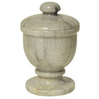 Polished Marble Jar, Cloud Gray, Shower and Bathroom Accessory