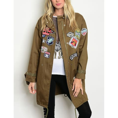 JED Women's Longline Cotton Parka Jacket