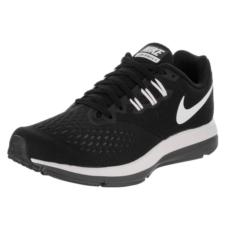 Nike Women's Zoom Winflo 4 Running Shoe (7.5), Black (Syn...