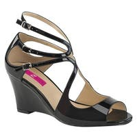 Pleaser Pink Label KIMBERLY-04 Women's Strappy Wedge Sandal With Cutout Detail