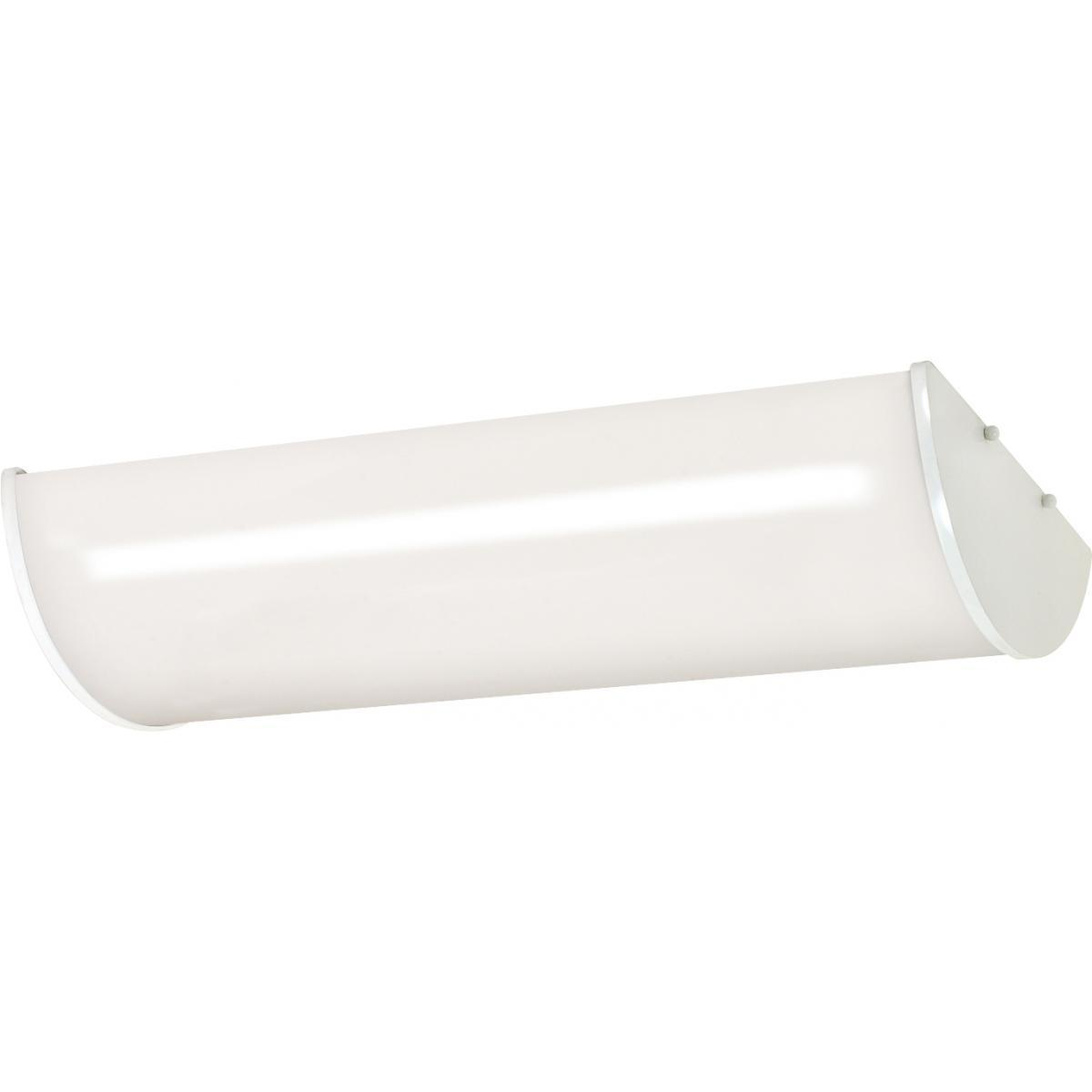 "NUVO Crispo 25"" 3 Light Linear Ceiling (White) (Glass)"
