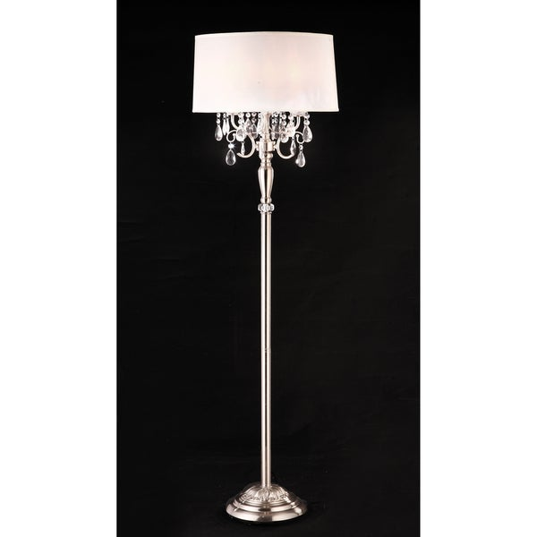 Furniture of America Kyla Contemporary Silver 62-inch Floor Lamp
