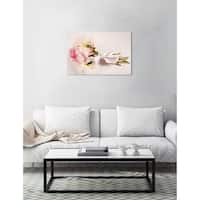 Oliver Gal 'Bouquet of Peonies' Canvas Art - pink, beige