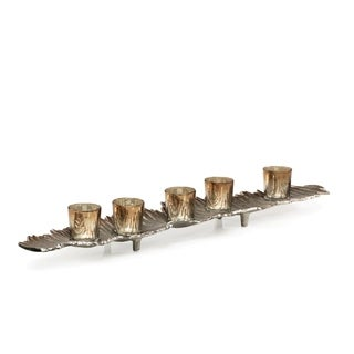 "28"" Long Multiple Tiered Tealight Candle Holder, Rippled Design"