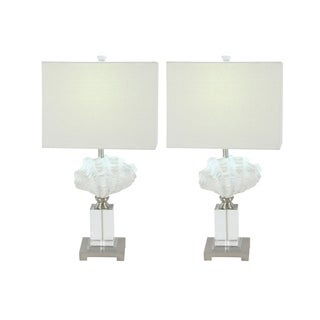 Studio 350 Set of 2, PS Glass Table Lamp 28 inches high