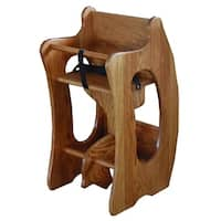 Toddler's 3-in-1 Oak Rocker, Desk, & High Chair - N/A