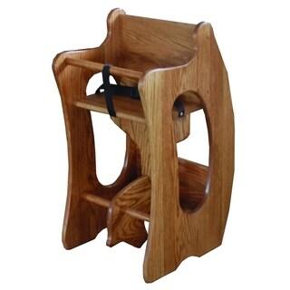Toddler's 3-in-1 Oak Rocker, Desk, & High Chair