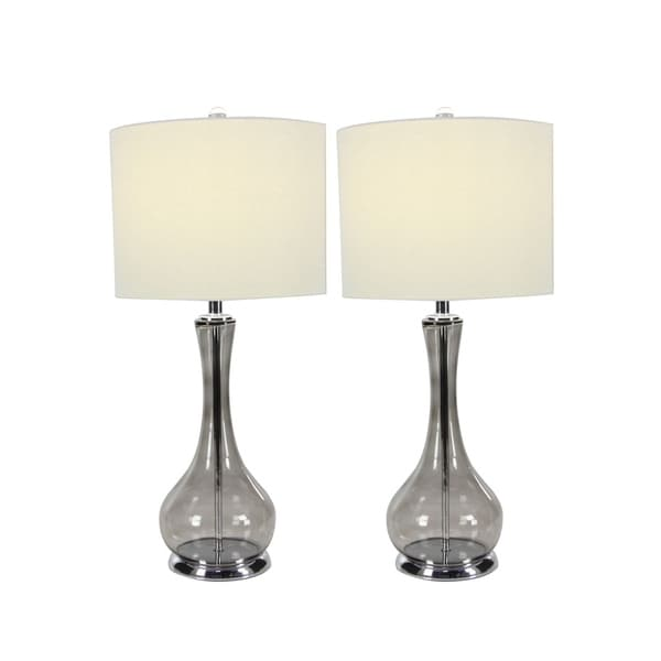 Studio 350 Set of 2, Glass Metal Table Lamp 27 inches high