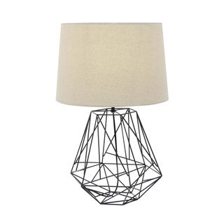 Studio 350 Metal Black Wire Table Lamp 25 inches high