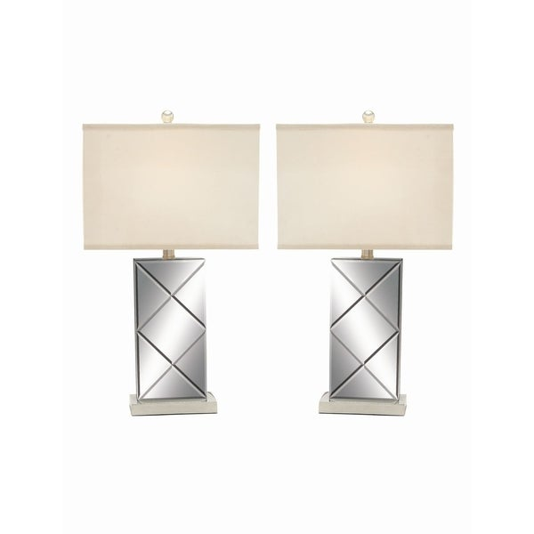 Studio 350 Set of 2, Metal Mirror Table Lamp 26 inches high