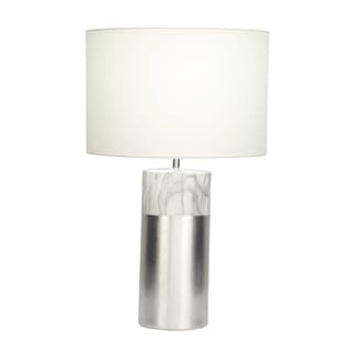 Studio 350 Ceramic Silver White Table Lamp 24 inches high