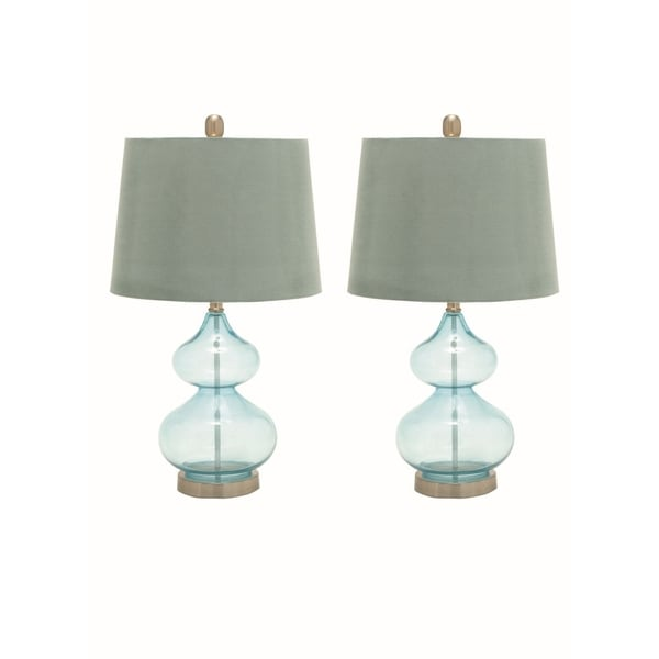 Studio 350 Set of 2, Glass Metal Table Lamp 25 inches high