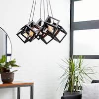 Contemporary 59 Inch 6-Light Cube Pendant Lamp by Studio 350