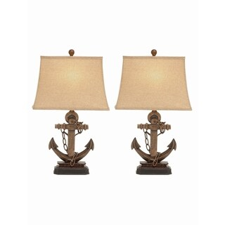Studio 350 Set of 2, PS Metal Table Lamp 27 inches high