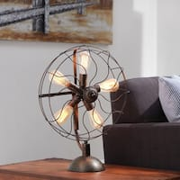 Studio 350 Metal Fan Light W Bulb 18 inches wide, 24 inches high