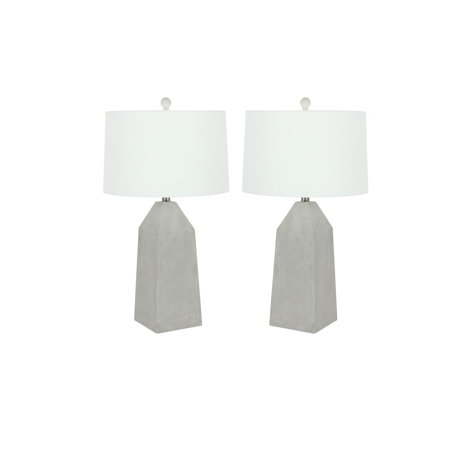 Studio 350 Set of 2, Cement Table Lamp 6 inches wide, 28 ...
