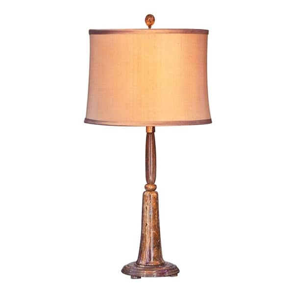 "31"" Tall Marble Table Lamp ""Aaryn"" with Linen Shade, Beige"