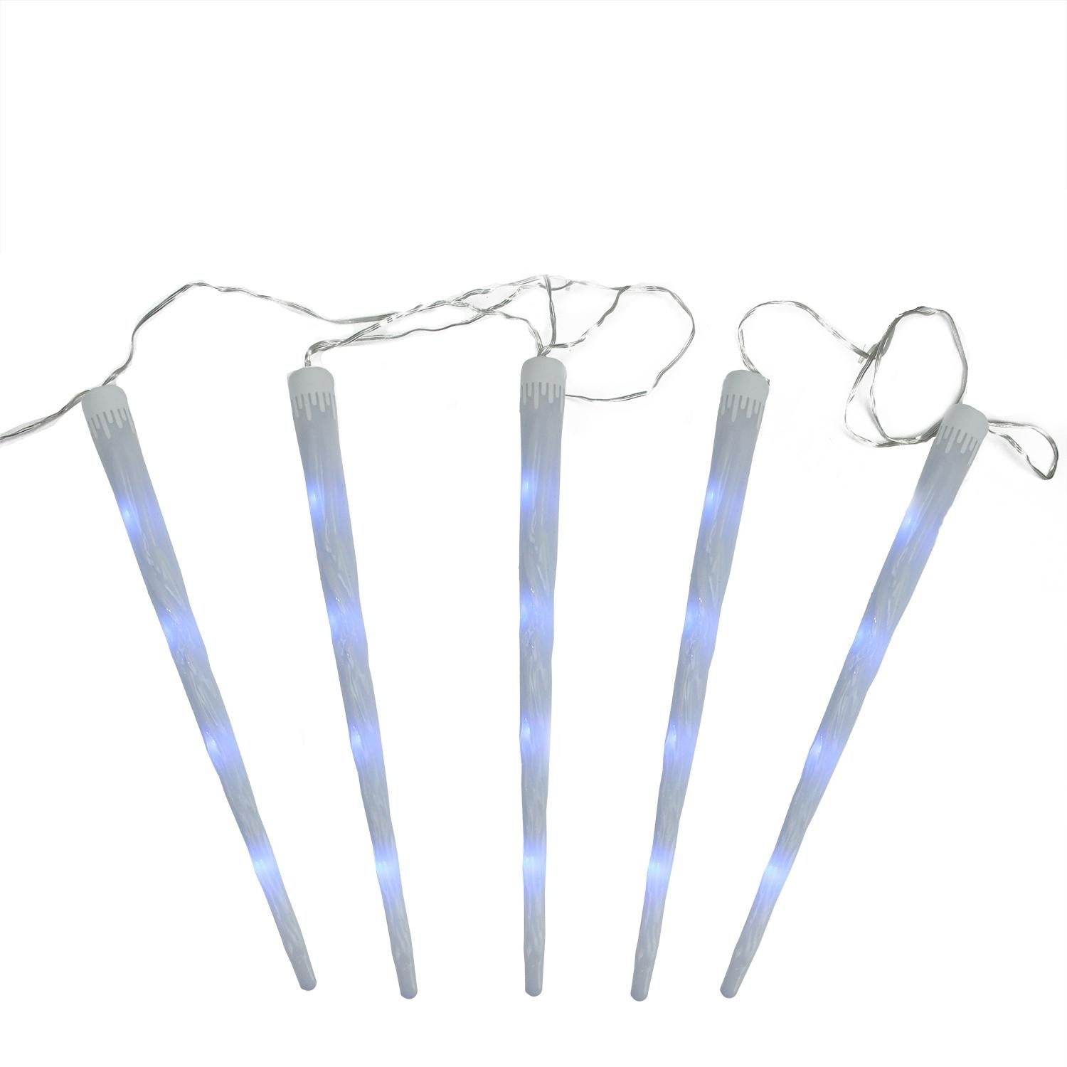 Set of 5 Multi-Color Dripping Frosted Icicle Snowfall Chr...