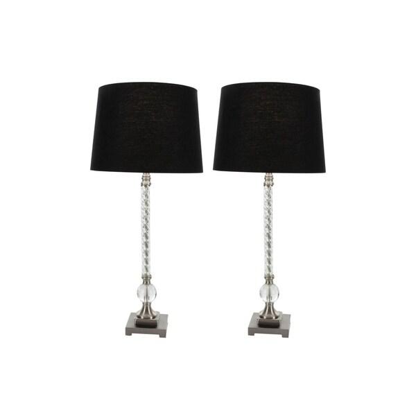 Studio 350 Set of 2, Metal Acrylic Table Lamp 31 inches high