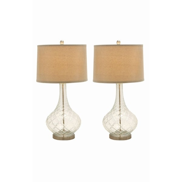 Studio 350 Set of 2, Glass Table Lamp 31 inches high