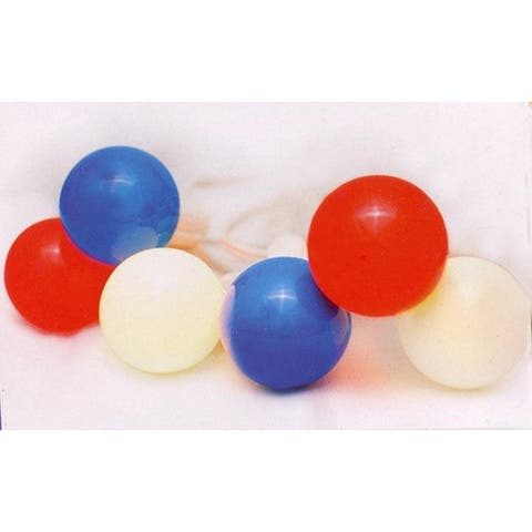Set of 10 Red White & Blue 4th of July G40 Globe Christmas Lights - White Wire