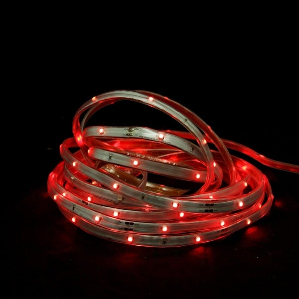 18 Red Led Indoor Outdoor Christmas Linear Tape Lighting White Finish