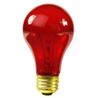 Club Pack of 25 Transparent Red E26 Base Replacement A19 Light Bulbs - 25 Watts
