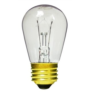 Club Pack of 20 Transparent Clear E26 Base Replacement S14 Light Bulbs
