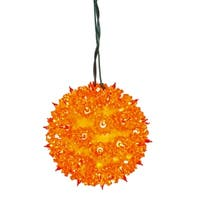 "7.5"" Orange Lighted Twinkling Starlight Sphere Christmas Decoration"