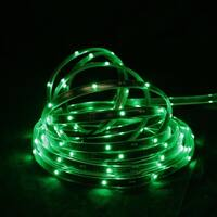 18' Green LED Indoor/Outdoor Christmas Linear Tape Lighting - Black Finish