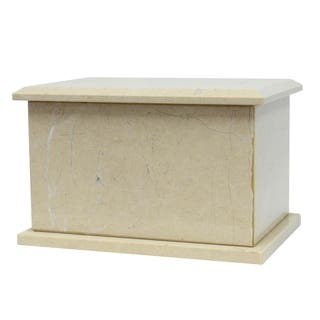 Polished Marble Decorative Cremation Urn with Lid, Desert Sand https://ak1.ostkcdn.com/images/products/17436120/P23669854.jpg?impolicy=medium