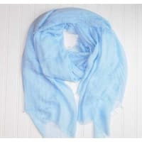 "Tickled Pink Lightweight Summer Scarf - 38 x 70"", Light Blue"
