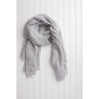 "Tickled Pink Lightweight Summer Scarf - 38 x 70"", Gray"