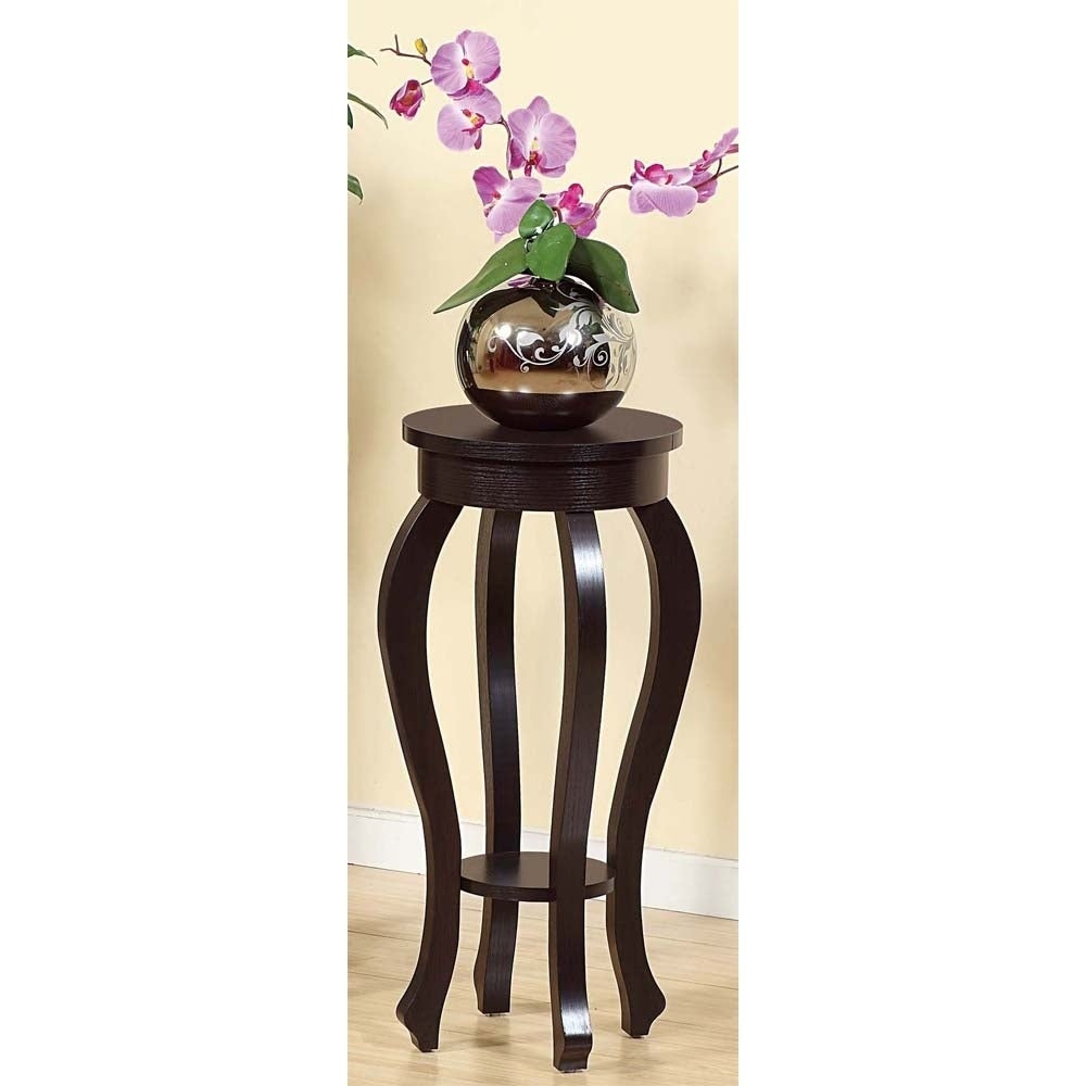 ID Sintechno S-ID14853 Contemporary Curvy Plant Stand, Br...