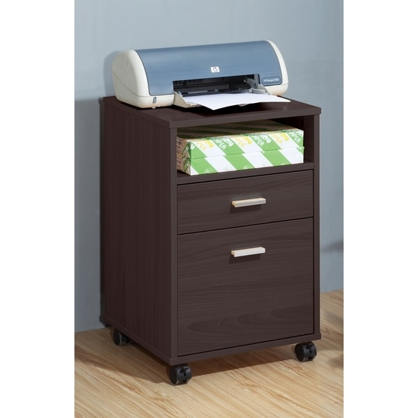 Sintechno S Id11491 Mobile Printer Stand With Storage Cabinet Free Shipping Today 17436237