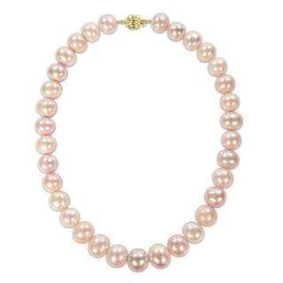 Miadora Signature Collection 14k Yellow Gold Multi-Colored Cultured Freshwater Pearl Necklace (13.5-15mm)|https://ak1.ostkcdn.com/images/products/17436293/P23670098.jpg?impolicy=medium