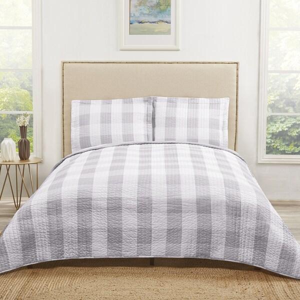 Shop Truly Soft Everday Buffalo Plaid Printed Quilt Sets