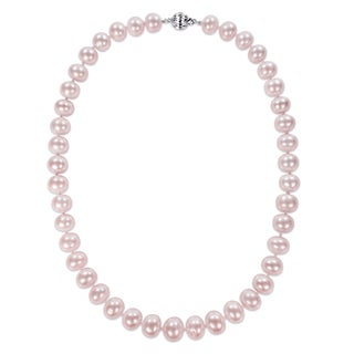 Miadora Signature Collection 14k Yellow Gold Pink Cultured Freshwater Graduated Pearl Necklace (10.5-13 mm)